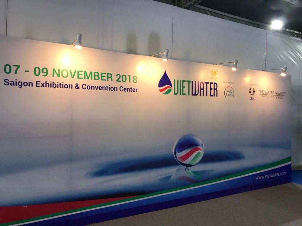 Two Delegates from Myanmar visited VietWater 2018 - Myanmar