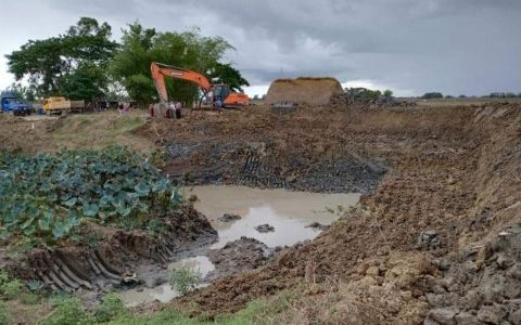 Four drinking water ponds dug in Dala Tsp