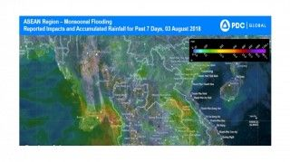 Report: Myanmar Monsoonal Flooding Reported Impacts and Accumulated Rainfall for Past 7 Days, 03 August 2018
