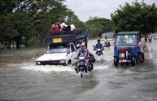 Floods continue to occur in lower areas of Bago